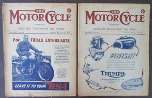 VINTAGE 1946 MOTOR CYCLE MOTORCYCLE MAGAZINES BOOK TRIUMPH BSA TRIALS RACING AJS