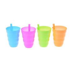 Kids Children Infant Baby Sip Cup with Built in Straw Mug Drink Solid Feeding-P`