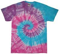Purple, Blue, Pink Rainbow TIE DYE T SHIRT Tye Die Tshirt Top Tee Festival Party