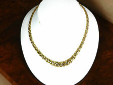 Gorgeous 18k Solid TwoTone Gold 18 Inch Long Necklace