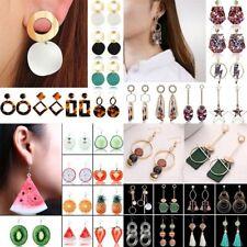 2018 Geometric Rectangle Fruit Strawberry Drop Dangle Earrings Women Jewellery