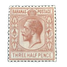 BAHAMAS, SCOTT # 73, 11/2p.VALUE  BROWN KGV 1934 ISSUE MH