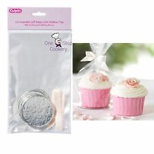 Culpitt CLEAR Cello Cupcake Gift Bags - Ribbon Ties & ROUND Cake Boards Pack 12