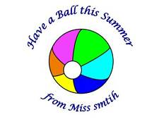35 Personalised Teacher Holiday Stickers Ball 3for2 Labels Sticker Summer