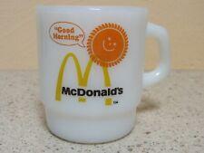 VTG MILK GLASS GOOD MORNING MCDONALD'S COFFEE CUP MUG ANCHOR HOCKING FIRE KING