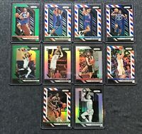 Lot of (10) 2018-19 Panini Prizm Rookie silver red white blue kevin Knox okogie