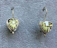 Sarda Sterling Silver Errings with Peridot Quartz