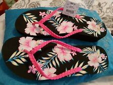 💕💕💕Kmart Women's floral Thongs Bathing Shoes size 10💟💟💟