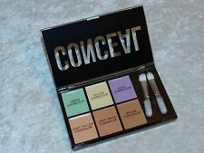 Profusion Mini Conceal Corrector Palette & Brushes 6 Shades All Skin Tone