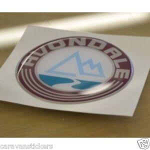 AVONDALE - (RESIN DOMED) - 'Mountain' Caravan Badge Sticker Graphic - SINGLE
