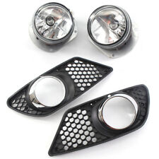 2Pcs/Set H7 Fog Light Lamp with Grille For Mercedes Benz 08-10 W204 AMG Grill