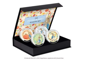 The Official Peter Rabbit Seasons Silver-plated Set