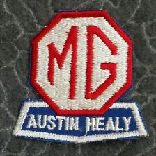 Vintage MG Austin-Healey Cut Edge Racing or Dealership Car Patch - Spelled Healy