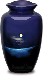 Urns For Human Ashes- Moon Night Pictured Adult Cremation Urn For Human Ashes