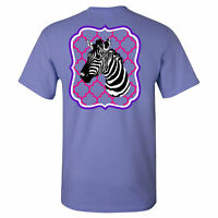 Southern Charm Zebra on a Violet Short Sleeve T Shirt
