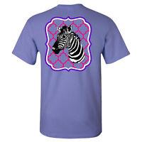 Southern Charm Zebra on a Violet Short Sleeve T Shirt