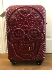 it Luggage Cabin Small Suitcase Skull Grillz Design Expandable 4 Wheels