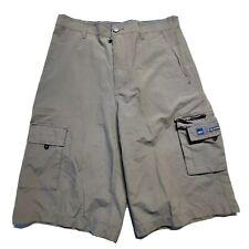 Quiksilver Boys Teens Gray Cargo Casual Shorts Cargo Pockets Size 30