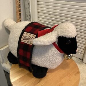 "Sheep White LG 18"" Woolrich Plush Stuffed Lamb Toy Animal Vtg 1995 Mary Meyer"