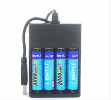Kentli 1.5V AA Rechargeable Lithium Batteries (x4) with USB Charger
