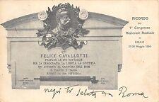 4546) ROMA 1904, FELICE CAVALLOTTI, 1 CONGRESSO NAZIONALE RADICALE. VG NEL 1904.