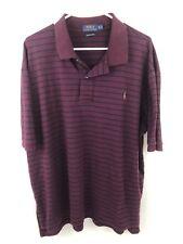 Polo Ralph Lauren Men's Pima Soft Touch Red Striped Short Sleeve Shirt 2XB Big