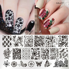 BORN PRETTY Nail Art Stamping Image Plate Stencil Flower Butterfly Design L043