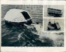 1961 US Rubber Life Raft Expanded Royalite Case Press Photo
