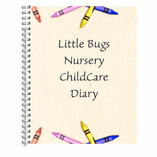 AN A5 DIARY EYFS PERSONALISED CHILDCARE PROVIDER/CHILDMINDERS DAILY DIARY