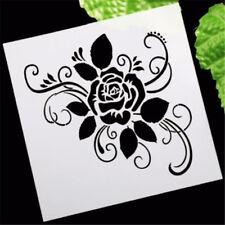 Elegant Rose Flower Layering Stencil Template DIY Scrapbooking Home Bar Decor