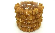 Lot 5 Natural Baltic Amber Raw rough unpolished healing bracelet set 56gr #3857