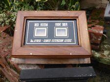Antique Indicator Butler / Servants Bell Box - Bedroom Front Door Clokes Leeds