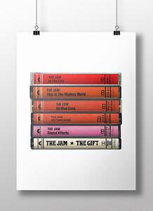 The Jam Poster: Cassette Print, The Jam Albums, Fan, Gift, Art, Paul Weller, Mod