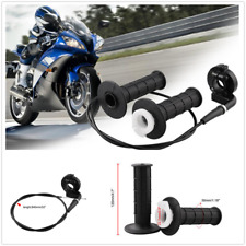 "1Set 7/8"" 22mm Motorcycle Aluminium Alloy Twist Throttle Clip Handle Grips+Cable"