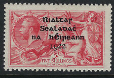 IRELAND:1922 Thom Overprint  on GB 5/- rose-red  SG45 mint