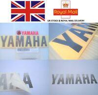 GENUINE YAMAHA METALLIC SILVER DECAL STICKER BADGE LOGO 180 x 40mm