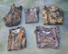 5 Camouflage Hunting Sweater and Shirt Lot Sizes L/XL/2X__Cabela's_Russell.