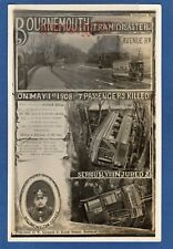More details for bournemouth tram disaster 1908 rp pc unused w gothard  aa404