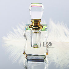 Mini 3ML Clear Vintage Style Perfume Empty Replacement Crystal Glass Bottle Gift