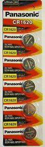 5 NEW Panasonic 1620 DL1620 CR1620 ECR1620 3v Battery Coin Cell Longest Expiry