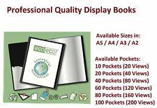 More details for a5/a4/a3/a2 black presentation display book folder 20/40/60/80 pocket range new