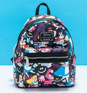 Official Loungefly Disney Alice In Wonderland All Over Print Classic Mini Backpa