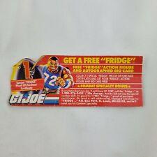 GI Joe Fridge Insert Paperwork Great Shape Mail Away Offer Vintage ARAH