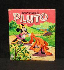 Tell-A-Tale #2552 - Walt Disney Pluto - 1957 Whitman hardcover - Minnie Mouse