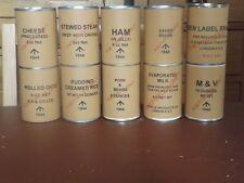 SET OF 20 WW2 BRITISH LARGE TIN RATION  LABELS (REPRO)