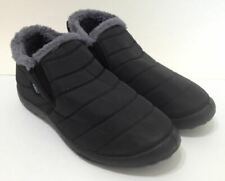 Scurtain Mens Winter Ankle Snow Boots Outdoor/Indoor Fur Booties Black - Size 13