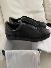 New Valentino Garavani VLTN Open black leather sneakers Size 10 (44)