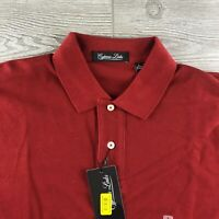 NWT Cypress Links Men's 100% Cotton Short Sleeve Solid Red Polo Shirt - Large