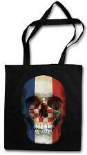 Croatia Skull Flag Hipster BAG-BORSA TESSUTO STOFFA sacchetto sacchetto Iuta-Croazia