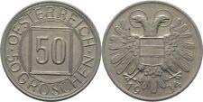 """50 Groschen """" Nachtschilling """" 1934 Österreich Wien #CB205"""